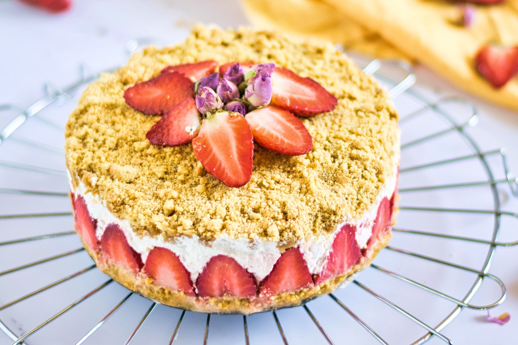 finished whole strawberry crumble recipe pop shop america
