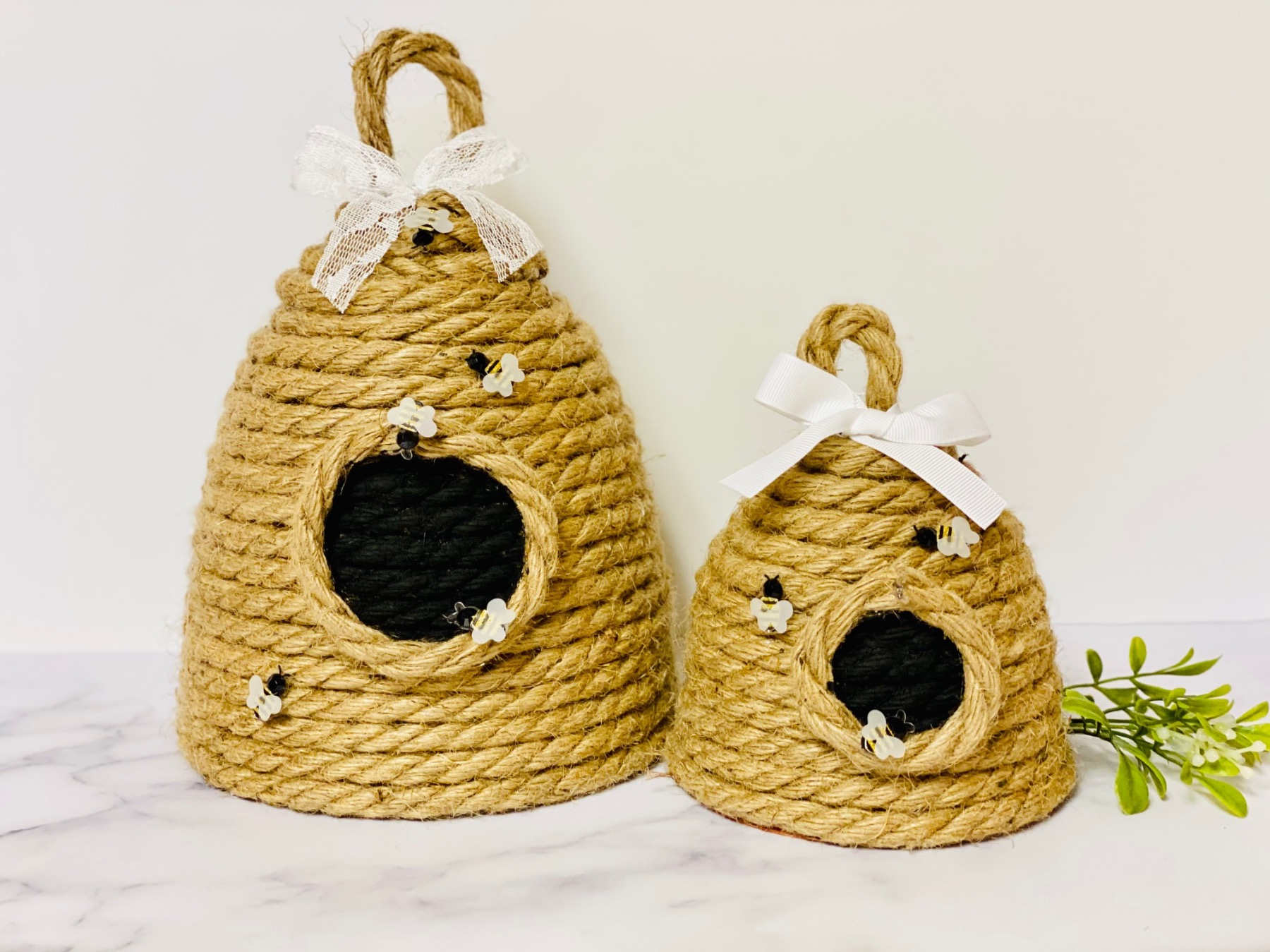 how to make a rope beehive sculpture diy