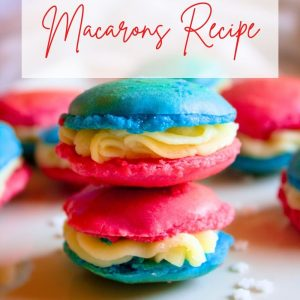 4th of July Macarons Recipe Feature Pin