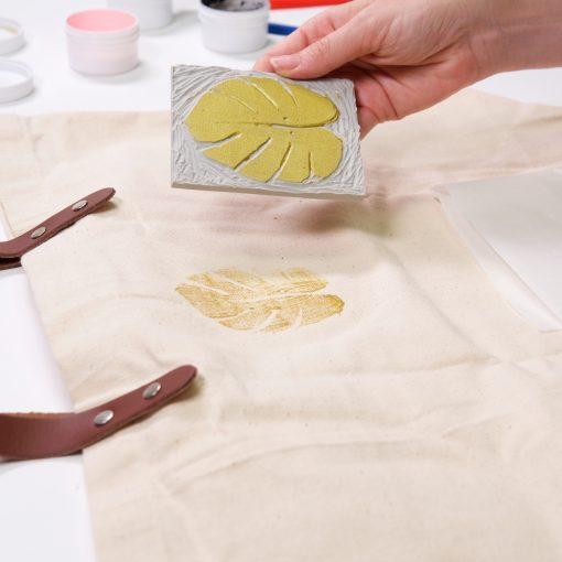 block printing on fabric tutorial pop shop america