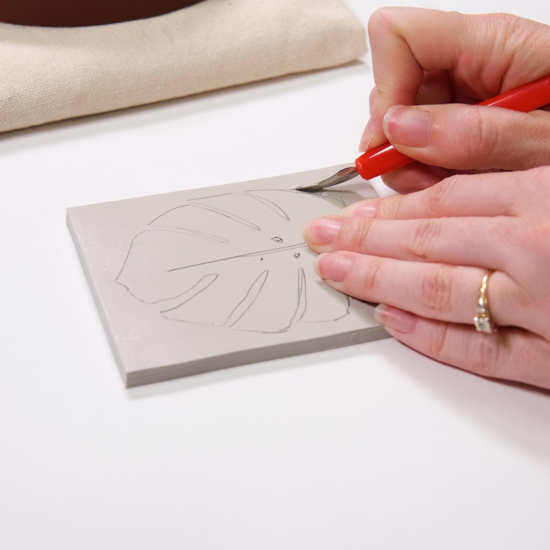 carve a linocut block printing tutorial pop shop america