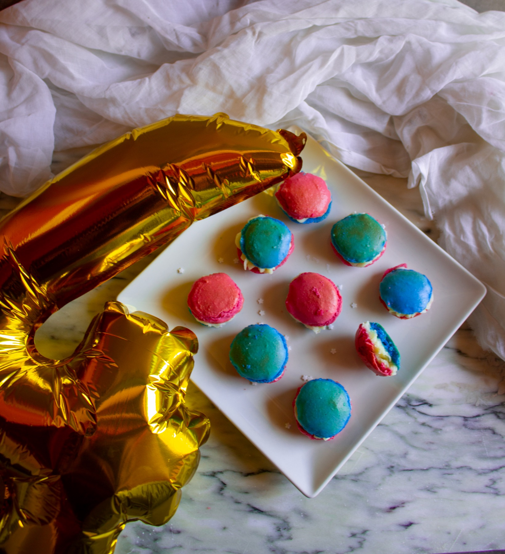 finished 4th of july macarons recipe pop shop america