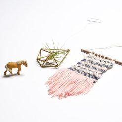 flatlay finished product diy weaving loom kit craft supply