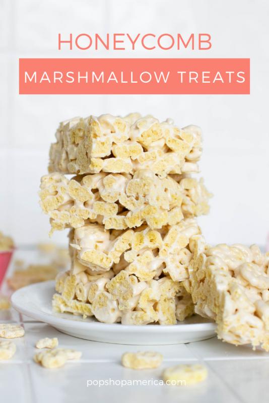 honeycomb marshmallow crispy treats recipe