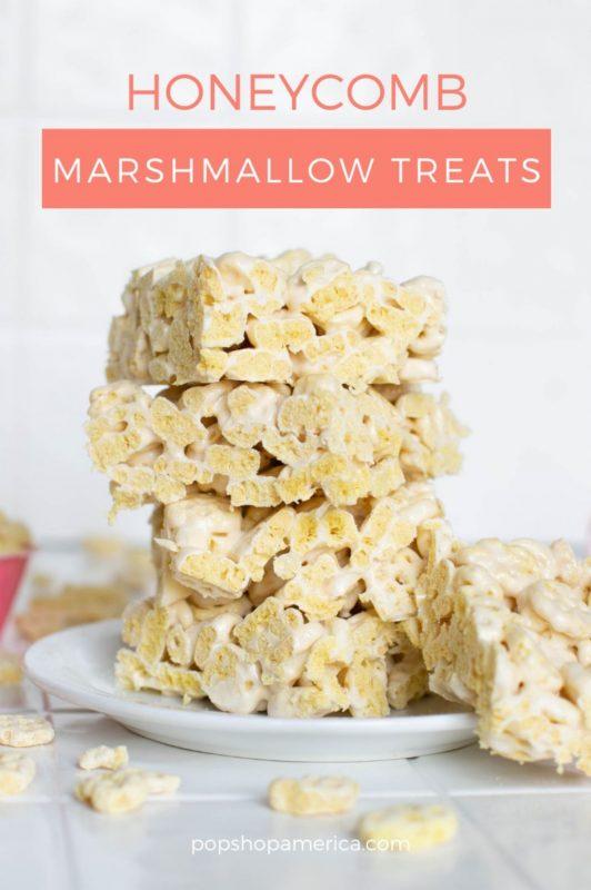 honeycomb marshmallow crispy treats recipe1