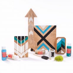 make your own set of chevron paintings
