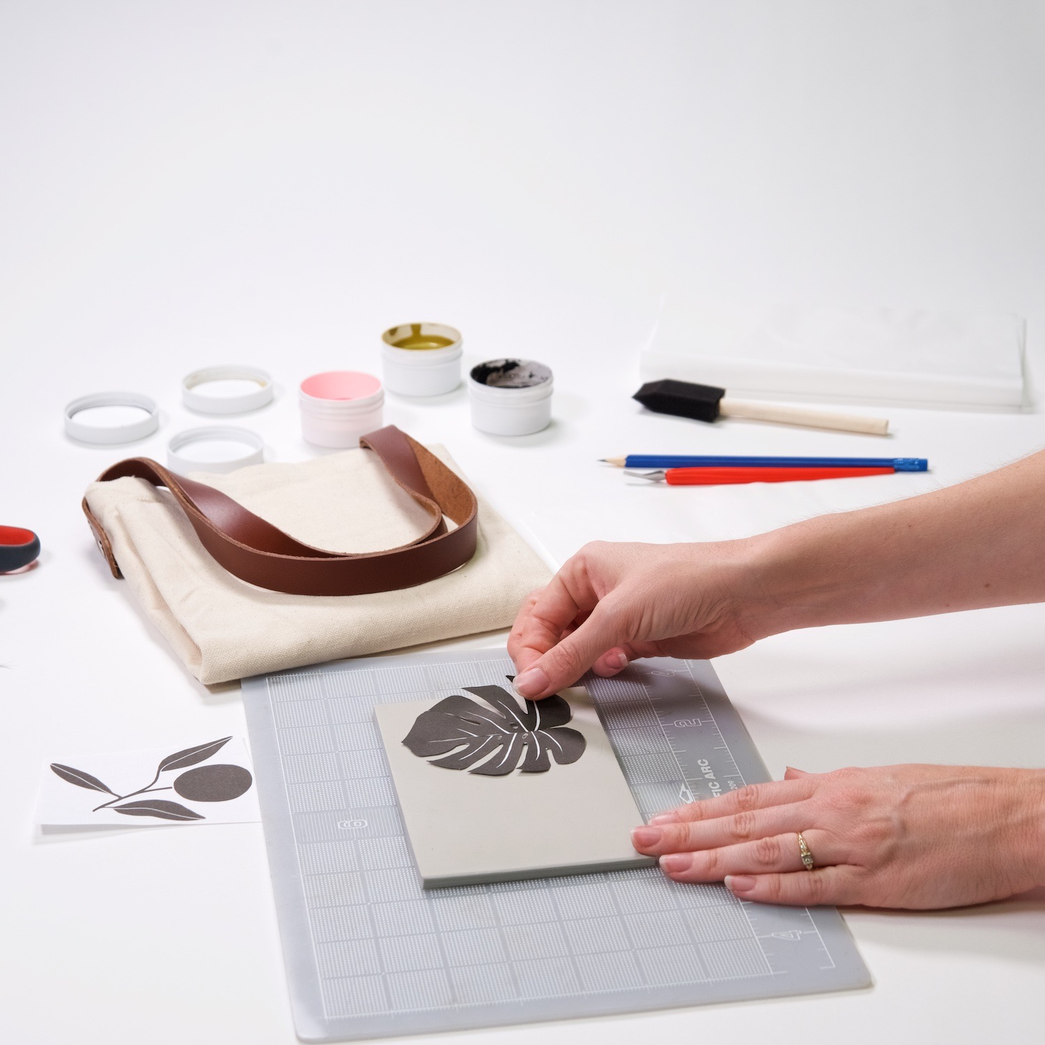 place your image on the linocut block printing tutorial