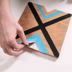 removing the last of the tape diy chevron painting tutorial square