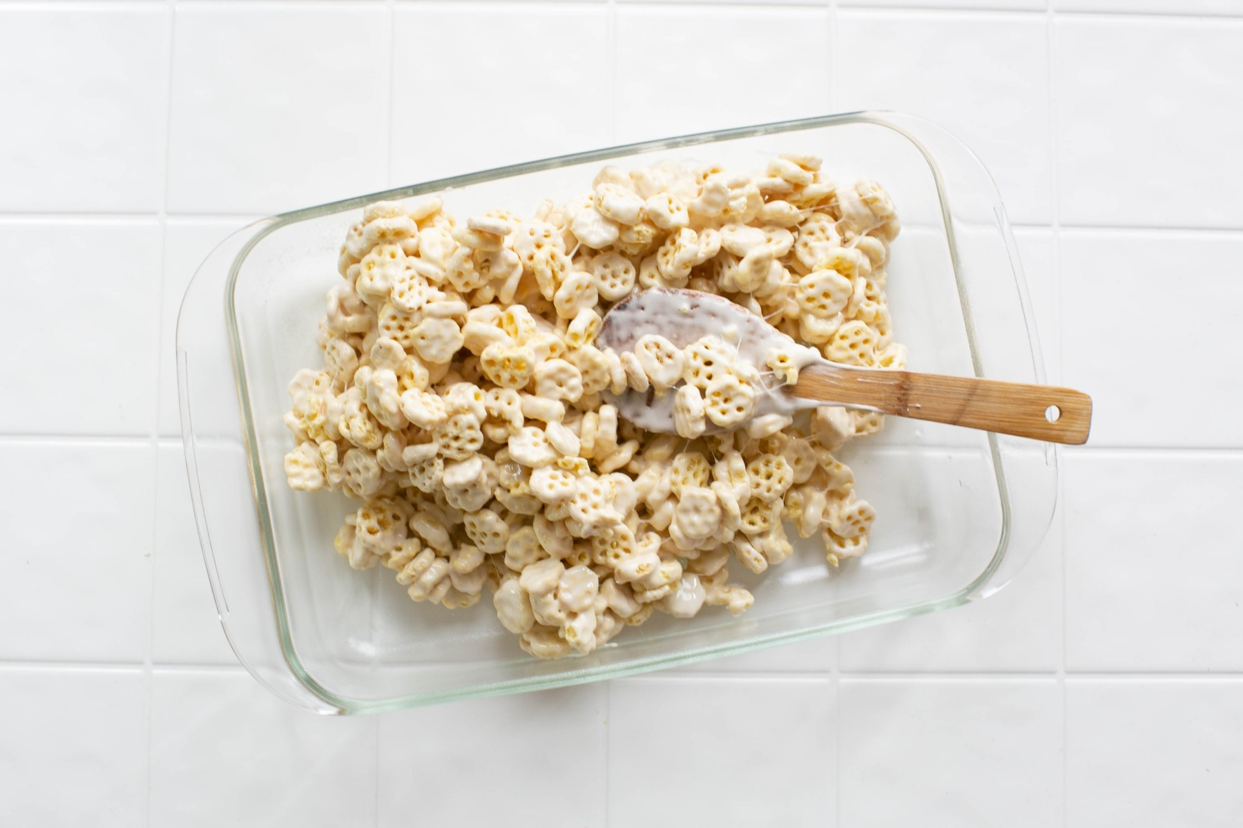 spread your cereal into a greased 13x9 pan