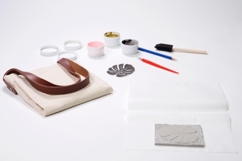 supplies to make a block printed tote bag beginners linocut