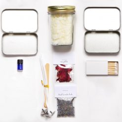 all supplies for diy travel candle kit