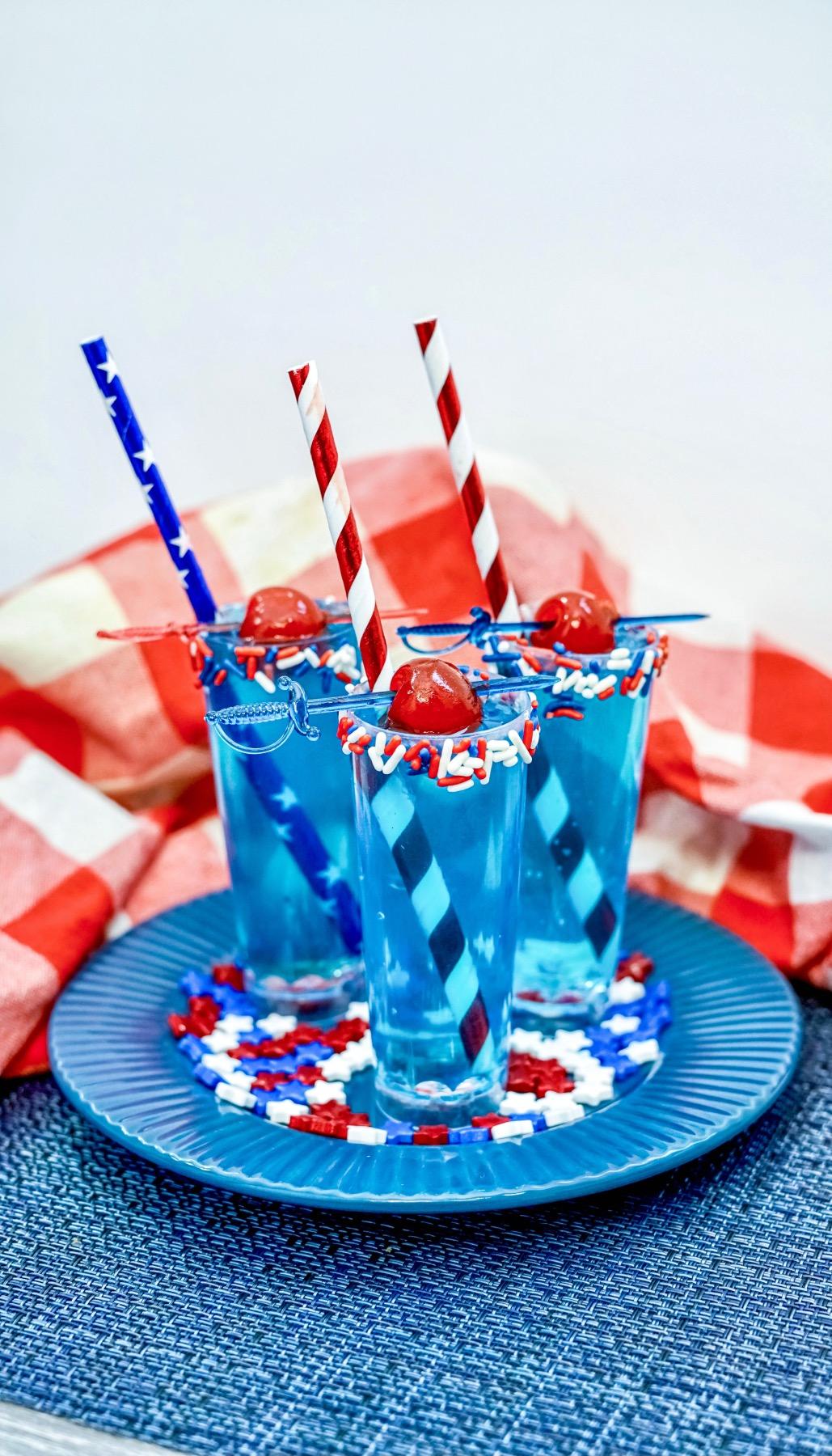 calypso lemonade and smirnoff red, white, and berry shots recipe