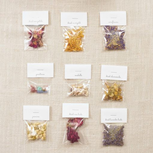 dried flowers and petals travel candle making kit