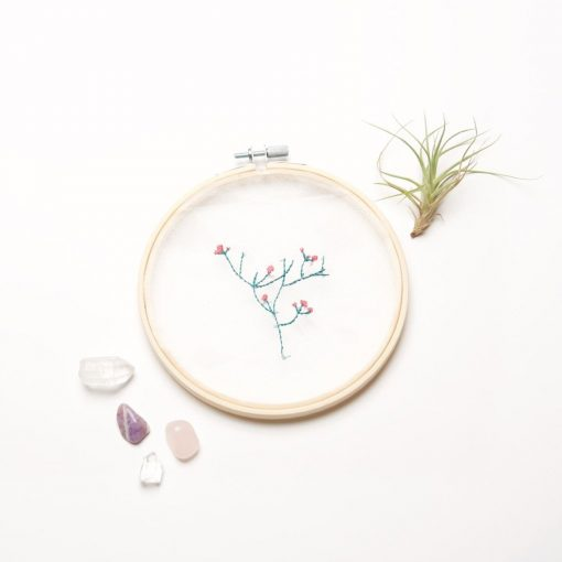 how to make nature flower and plant embroidery kit