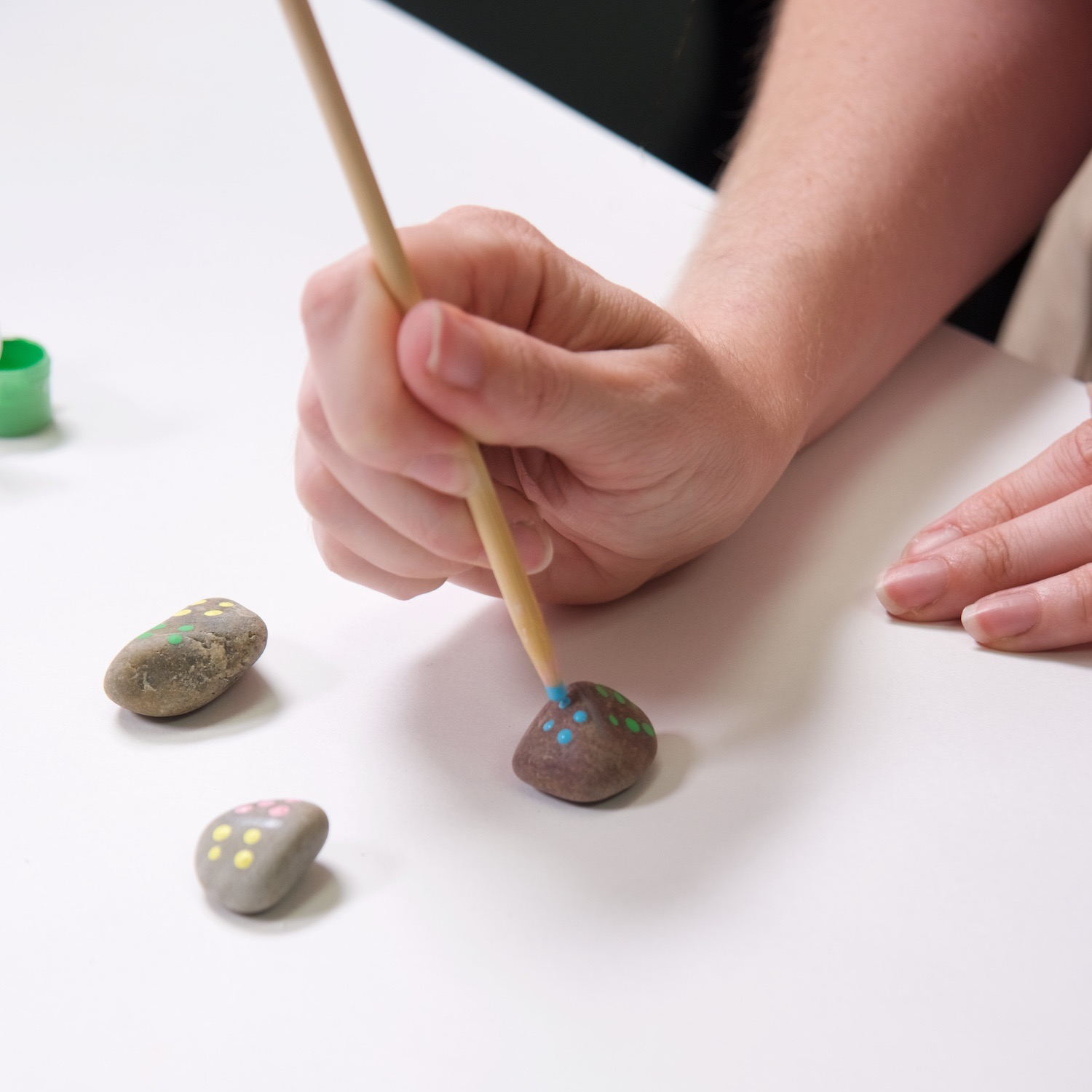painted rock domino set diy with acrylic paint