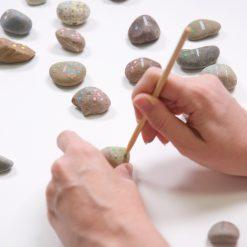 painting rock dominoes step by step tutorial