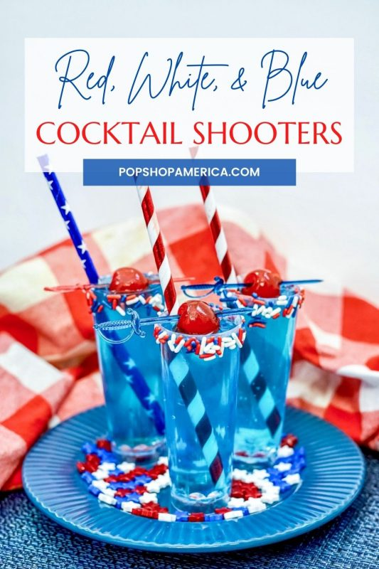 red, white, and blue july 4th cocktail shooters recipe