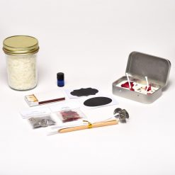 supplies for diy travel candle making kit