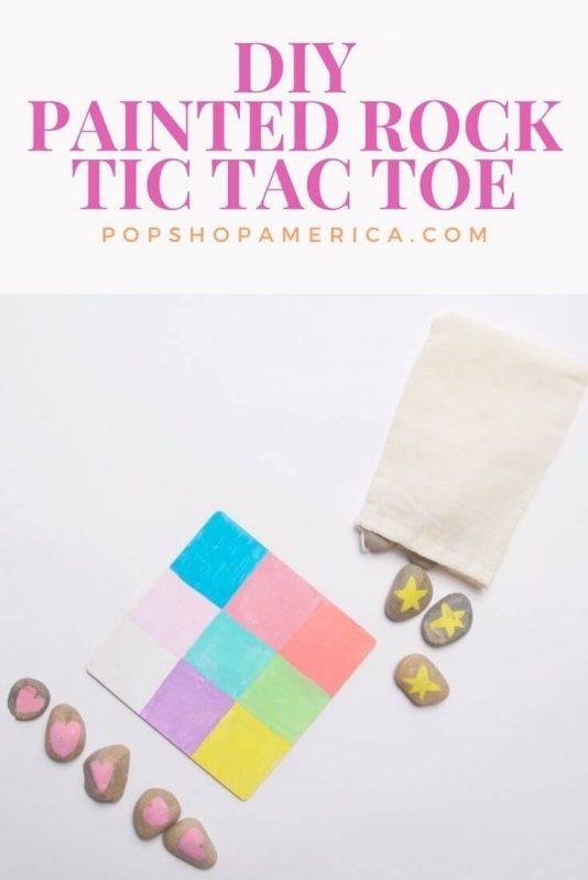 diy painted rock tic tac toe game set tutorial