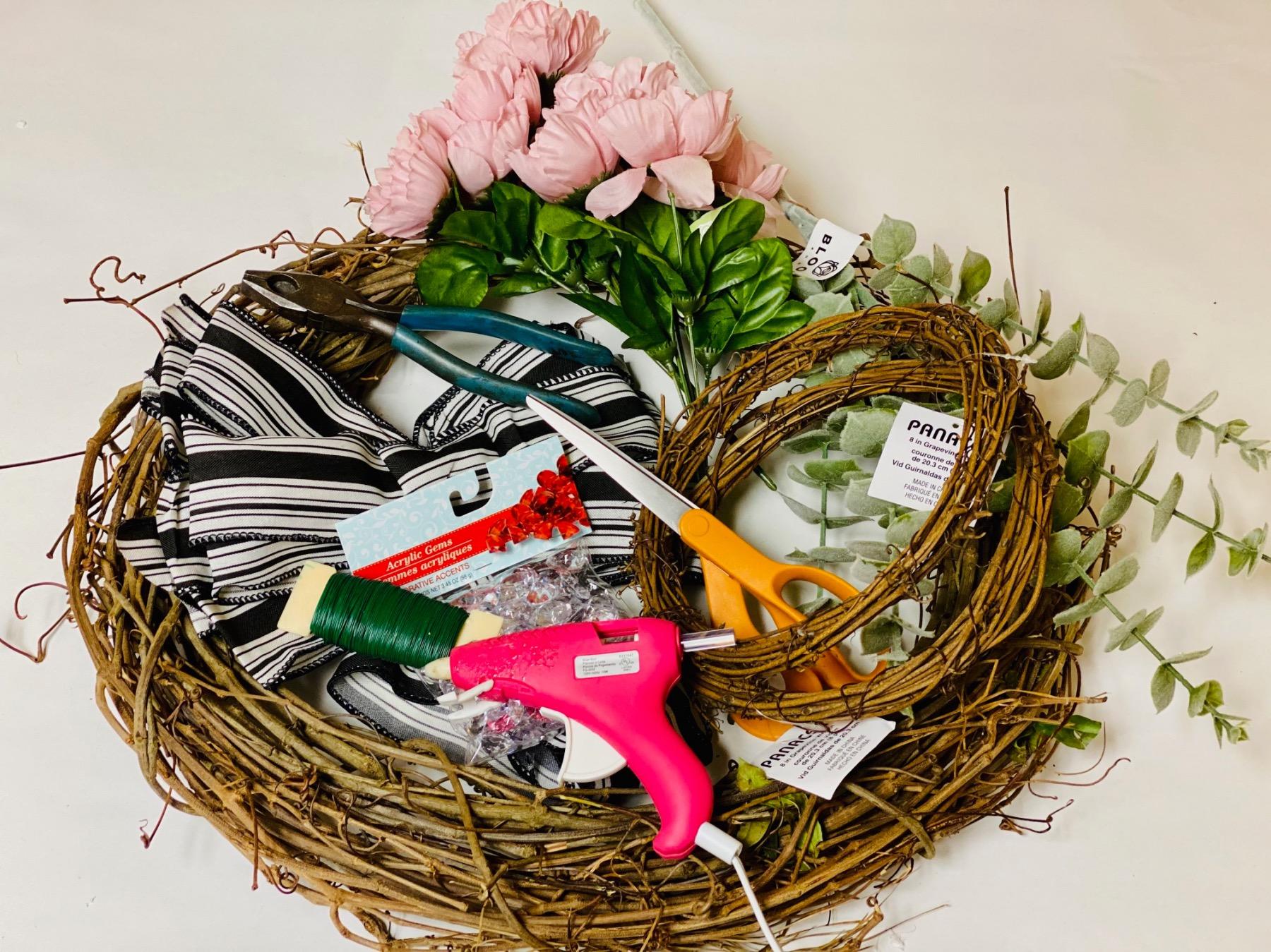 farmhouse wreath supplies diy pop shop america