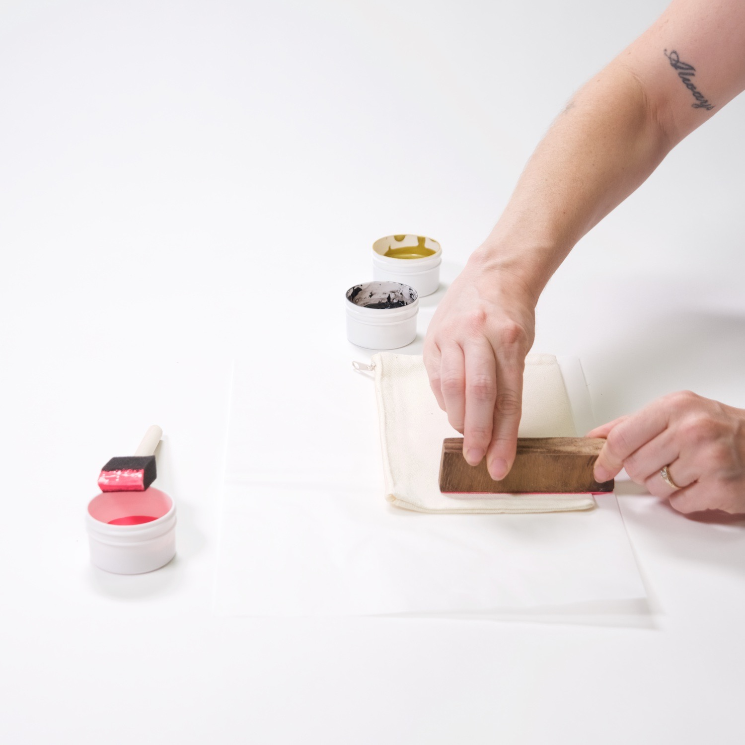 how to print with a wood block diy instructions