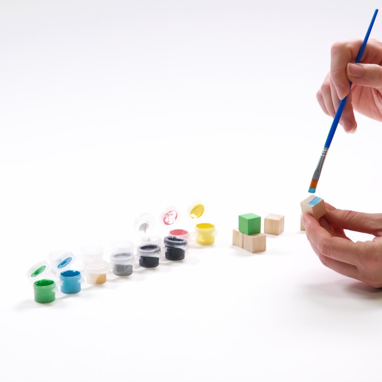 paint each block a different color diy yahtzee set