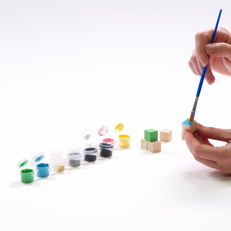 paint the wood with acrylic diy yahtzee set tutorial