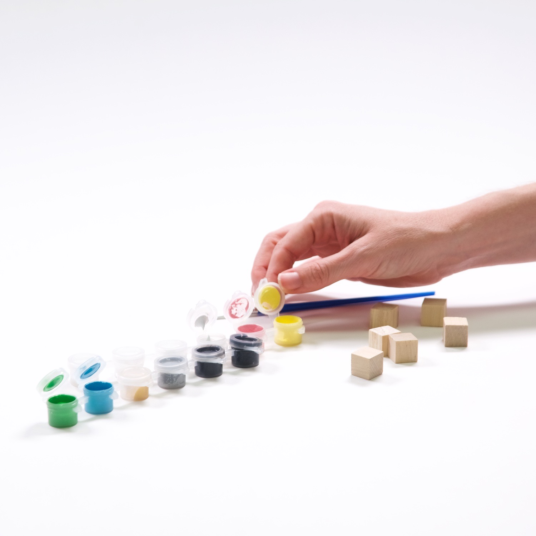 supplies to make diy rainbow yahtzee dice tutorial