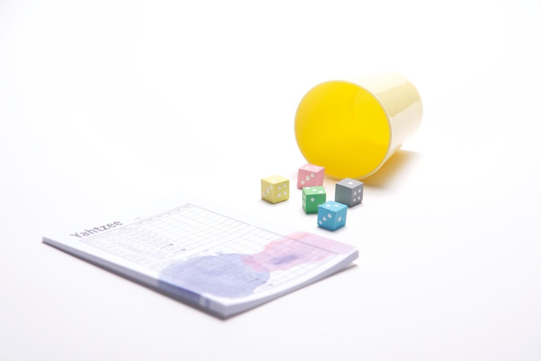yahtzee score cards and diy dice set craft tutorial