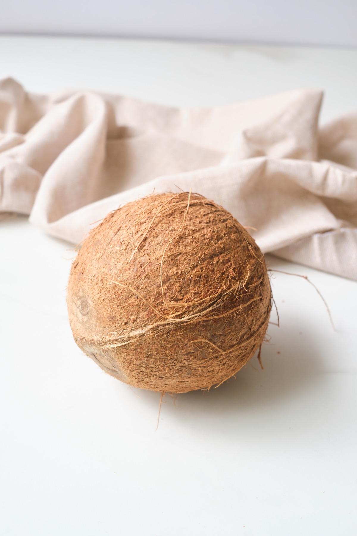 coconut ingredients to make fresh coconut milk
