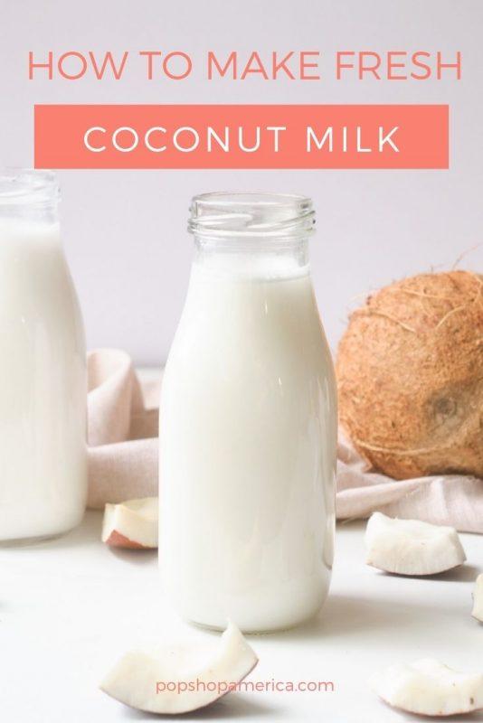 how to make coconut milk pop shop america