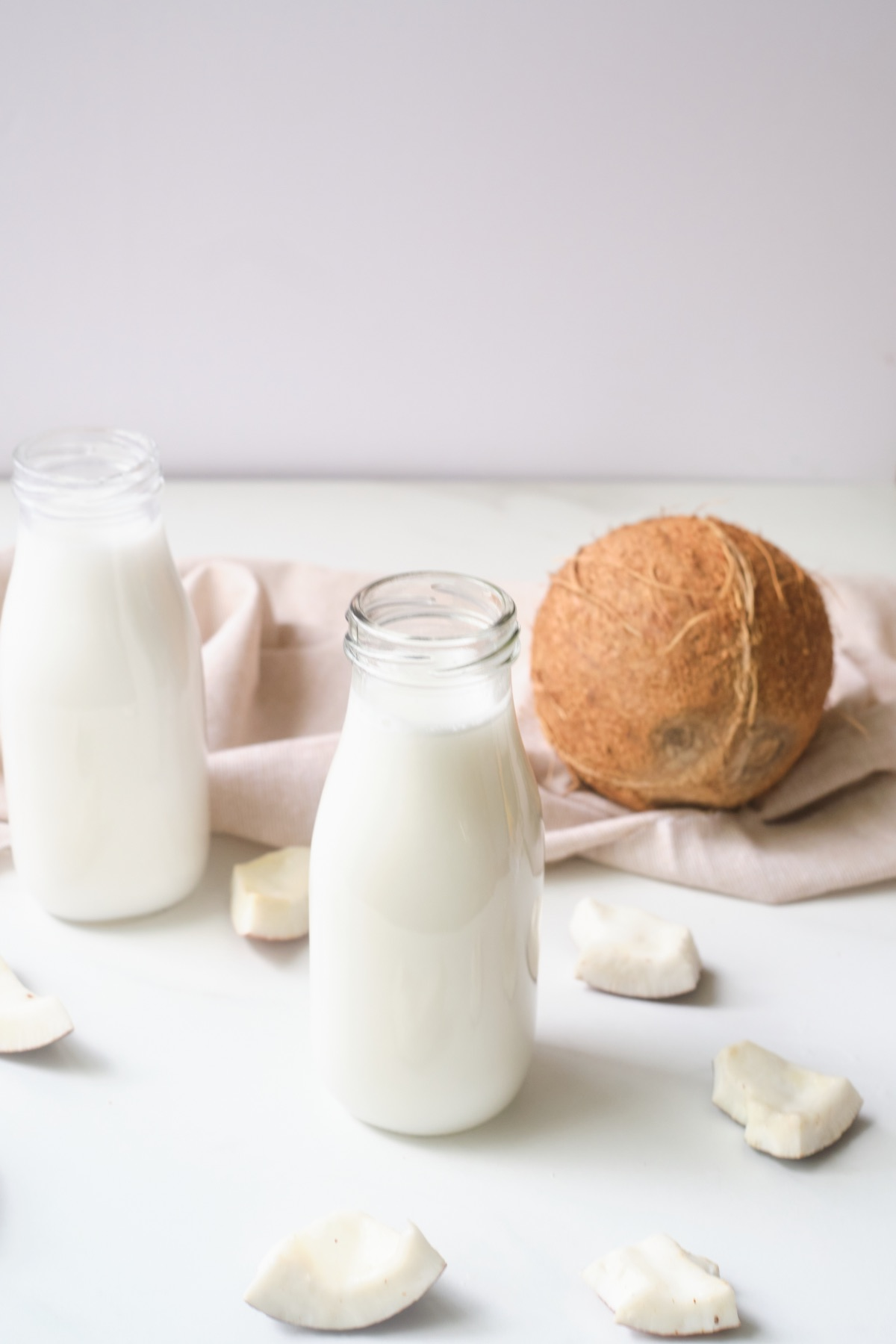 how to make coconut milk with fresh coconut