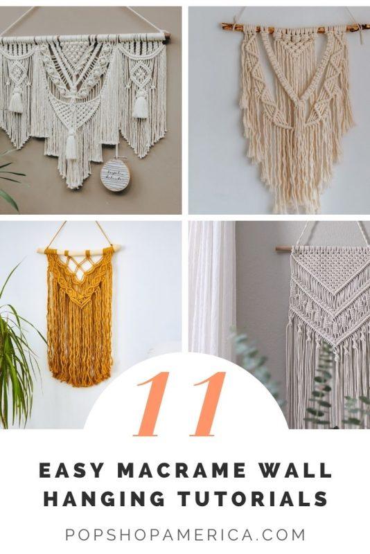 11 beginner friendly macrame wall hanging tutorials