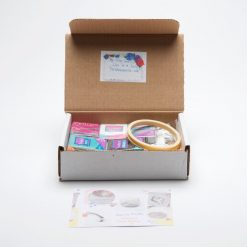DIY marbled clay trinket dish pottery kit subscription box