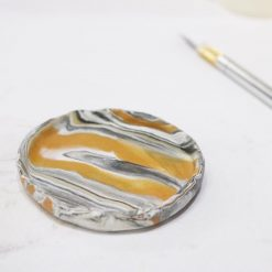 Learn how to make Marbled Clay Trinket Dish