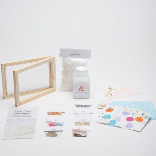 diy paper making craft kit supplies