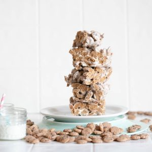 finished cooke crisp marshmallow crispy treats recipe square