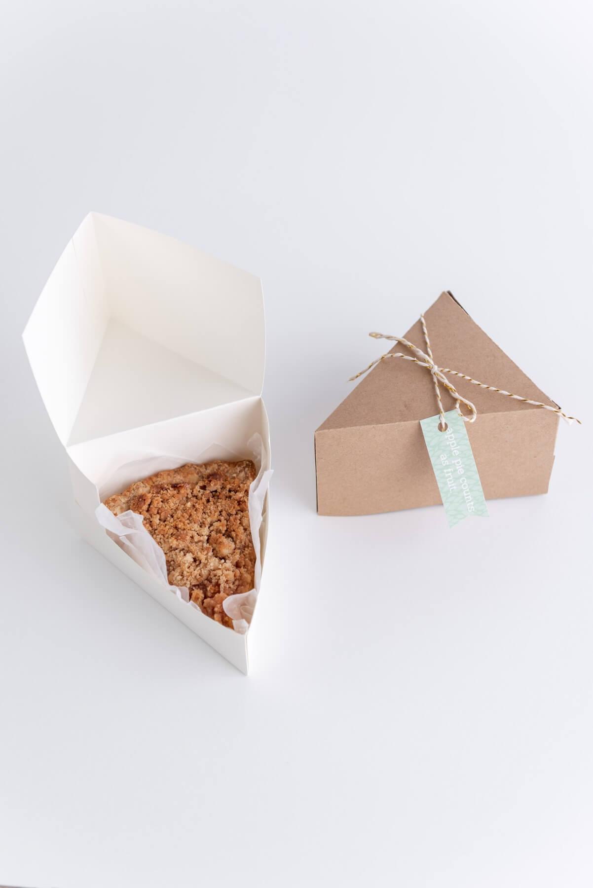 how to make a cricut cut pie slice box diy tutorial