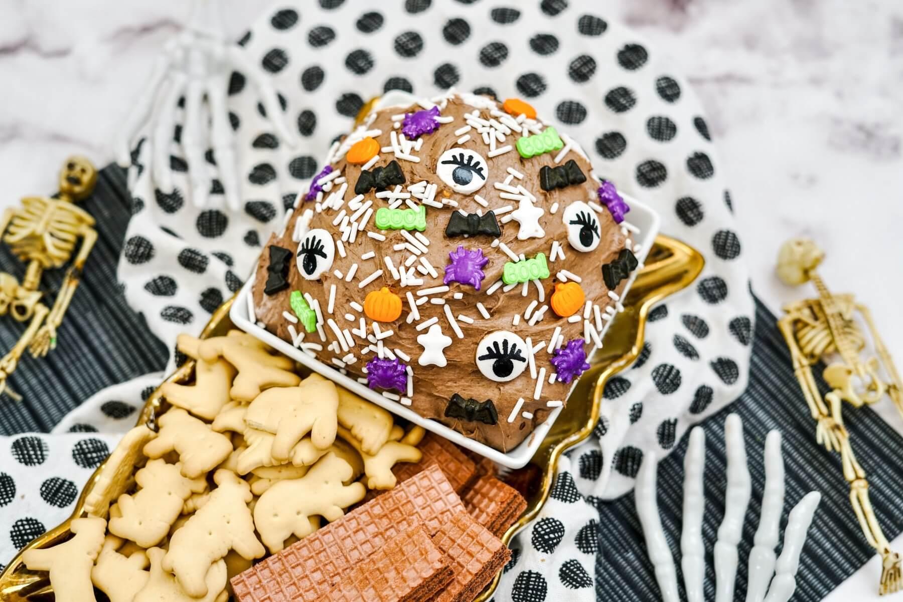 how to make halloween funfetti cake batter dip
