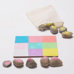 learn how to make painted stones tic tac toe