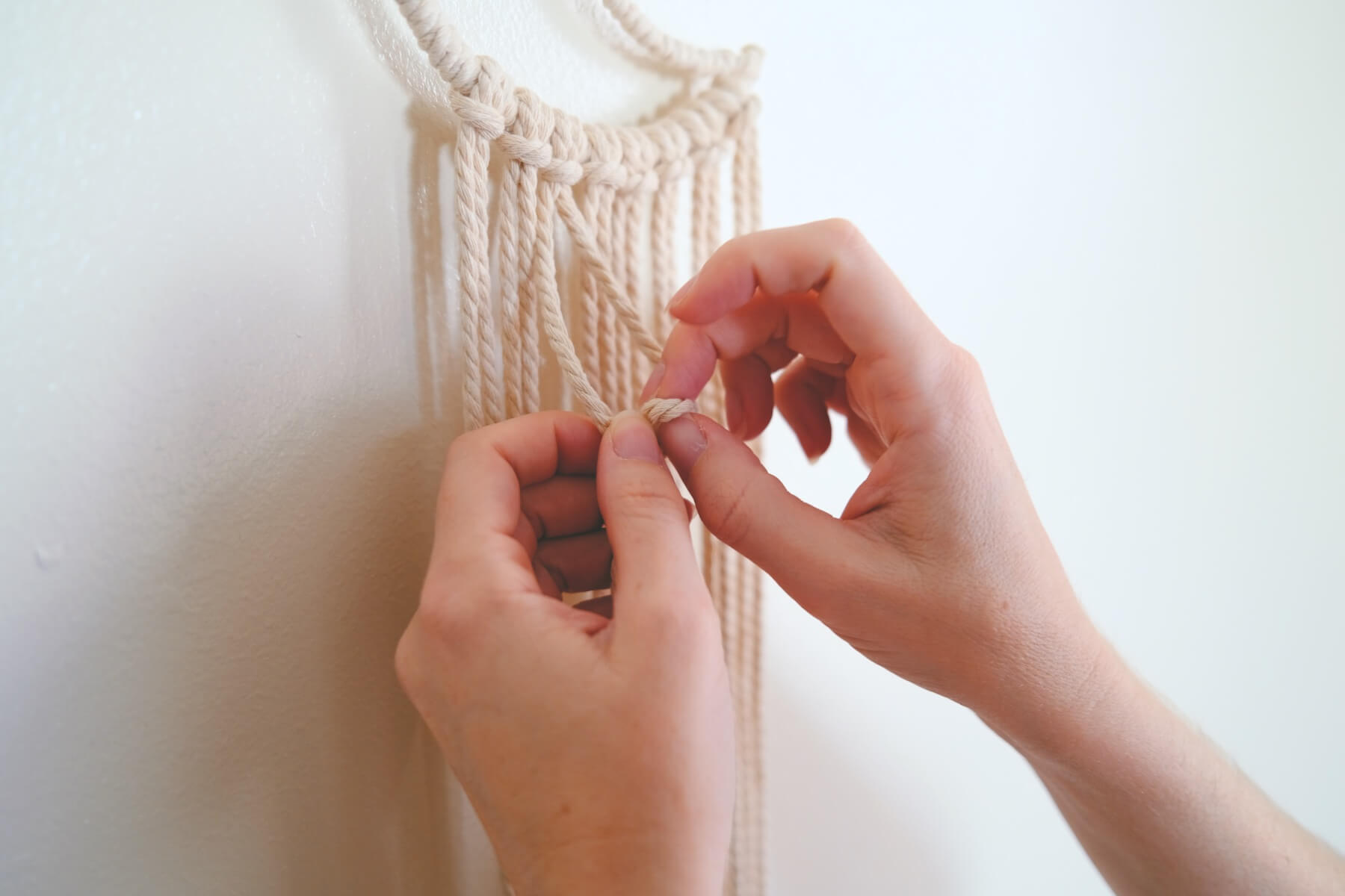 macrame tutorial double half hitch knot
