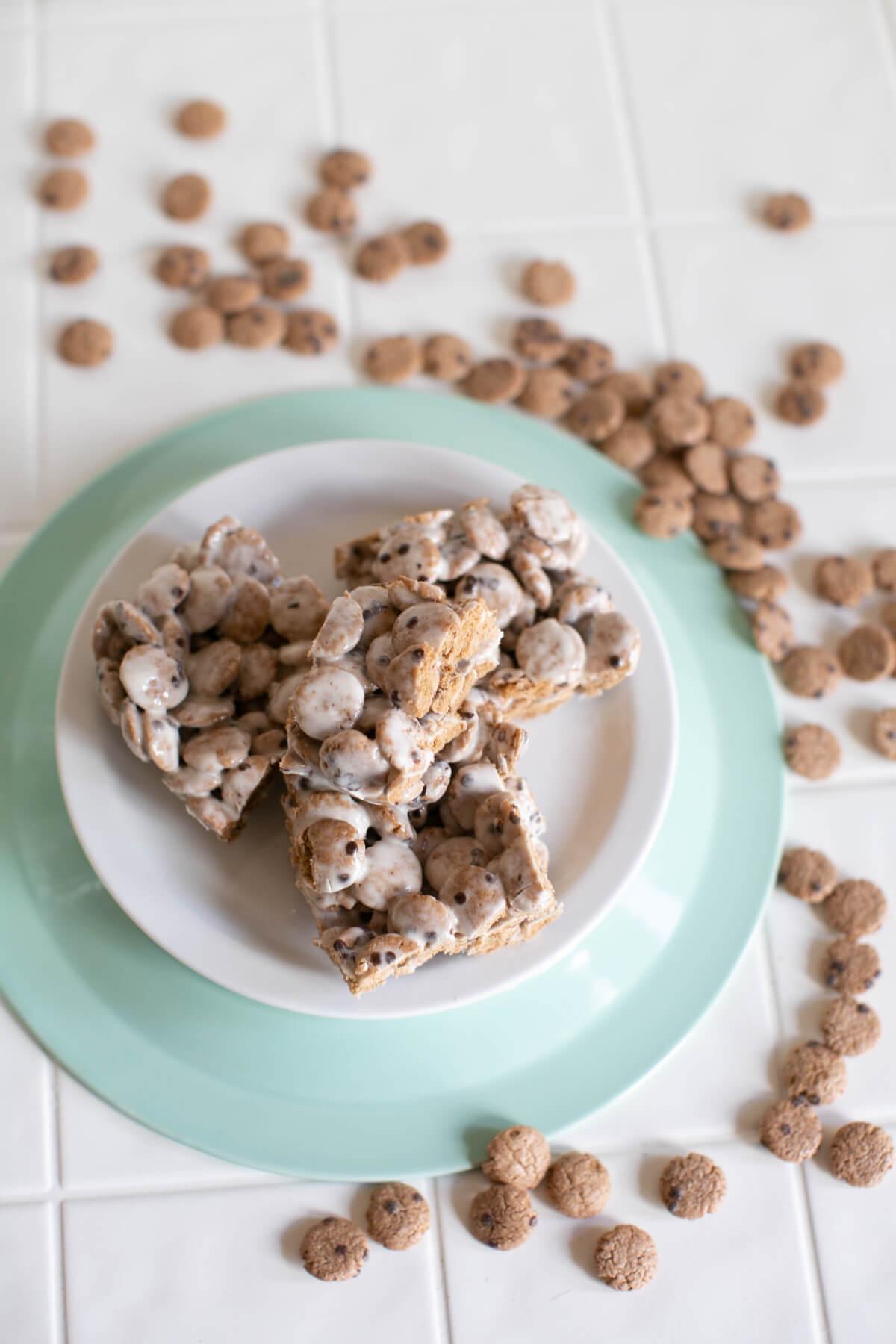 plated cookie crisp marshmallow treats recipes