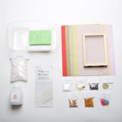 see all the supplies for the paper making craft kit