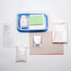 see inside the paper making craft supply kit